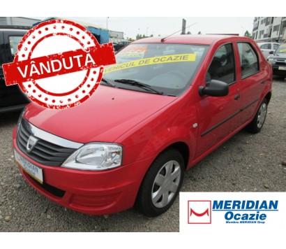 Dacia Logan rosie 2009 1.4 benzina exterior fata