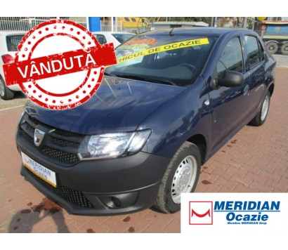 Dacia Logan albastra 2014 1.2 benzina exterior fata