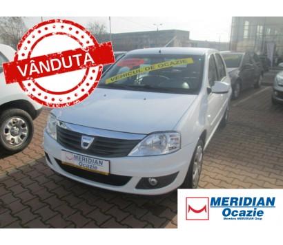 Dacia Logan alba 2012 1.2 benzina exterior fata