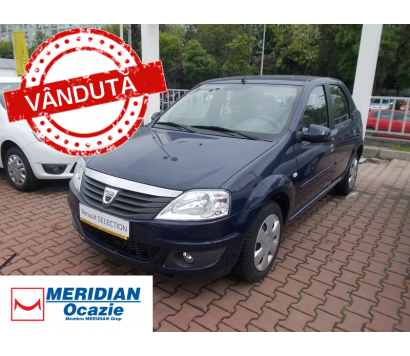 Dacia Logan albastru 2012 1.2 benzina exterior fata