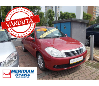 Renault Symbol rosu 2010 1.4 benzina exterior fata